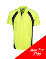 Hi-Vis Childs Coolfast Mini Waffle Polo
